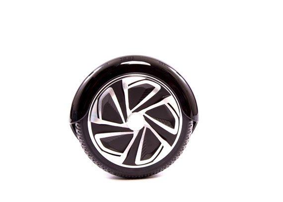 hoverboard noir roue cote