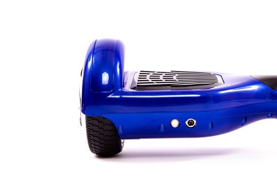 hoverboard bleu zoom roue